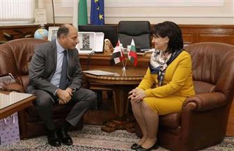 سفير مصر في بلغاريا يلتقي برئيسة البرلمان البلغاري | صور
