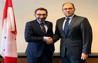 سفير مصر في كندا يلتقي السكرتير البرلماني لرئيس الوزراء الكندي