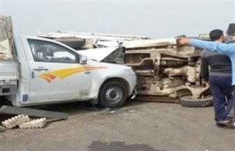 إصابة 5 مواطنين في حادث تصادم بدمنهور