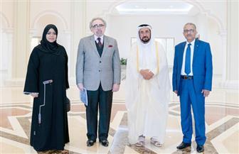 حاكم الشارقة يستقبل رئيس الكتاب العرب لمناقشة النهوض بالثقافة العربية   صور