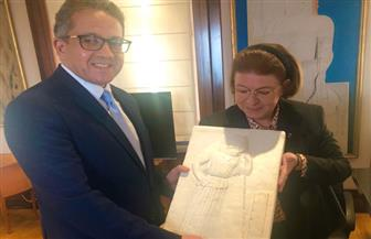 العناني يلتقي وزيرة الثقافة والرياضة اليونانية على هامش زيارتة للعاصمة اليونانية أثينا | صور