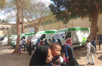 """فحص 1200 مواطن خلال القافلة 17 لمبادرة """"نور حياة"""" في المنوفية"""