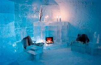 فندق مصنوع من الجليد يجتذب السياح والراغبين في الزواج بالسويد| صور