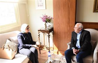 محافظ بورسعيد يستقبل وزيرة الصحة لمتابعة منظومة التأمين الصحي الشامل |صور