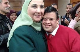 القباج تستقبل شباب الإعاقات السمعية بحزب الحرية المصري بمقر الوزارة  صور