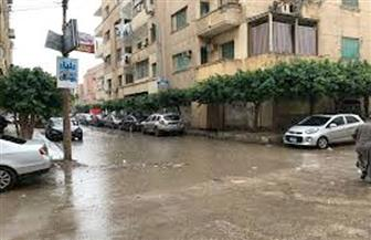 أمطار متوسطة علي مدن وقرى كفرالشيخ .. غرق الشوارع وقطع الكهرباء بالمناطق الشمالية
