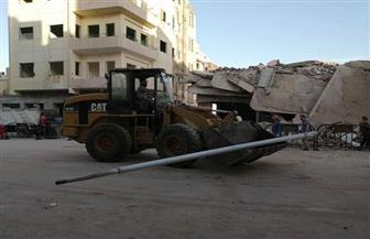 إزالة عمارتين بجوار كنيسة العذراء لإحياء طريق الكباش | صور