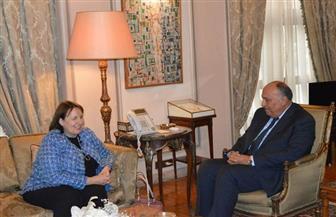 وزير الخارجية يبحث سبل إحياء عملية السلام مع مبعوثة الاتحاد الأوروبي للسلام في الشرق الأوسط | صور