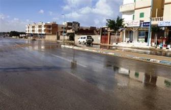 أمطار خفيفة على مدن مطروح الشمالية.. وتوقف الملاحة البحرية بموانئ الصيد