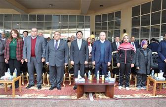 وزير الشباب ورئيس جامعة حلوان يفتتحان فعاليات الموسم الثقافي| صور