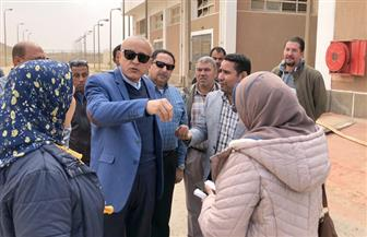 """نائب رئيس""""هيئة المجتمعات العمرانية"""" يتفقد المشروعات الجاري تنفيذها في بني سويف الجديدة"""
