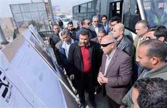 وزير النقل يتفقد أعمال التطوير والصيانة الشاملة للطريق الدائري   صور