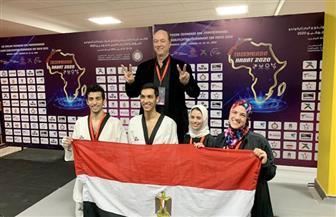 عمرو سليم: سعيد بتأهل التايكوندو للأوليمبياد بـ 4 لاعبين| صور