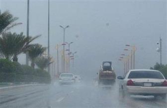 سقوط أمطار متوسطة على مدن محافظة أسوان