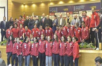 وزير الرياضة يشهد مؤتمر استضافة مصر لكأس العالم للخماسي الحديث | صور