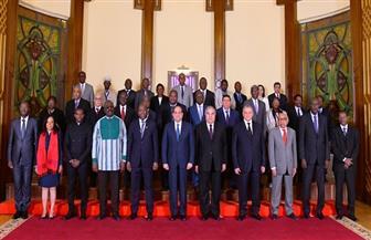 الرئيس السيسي يستقبل رؤساء المحاكم الدستورية والعليا الأفارقة | صور