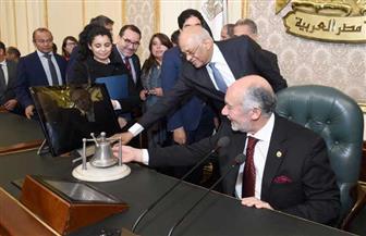 رئيس مجلس النواب يصطحب نظيره التشيلي في جولة داخل أروقة مجلس النواب |صور