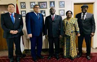 مساعد وزير الخارجية للشئون الإفريقية يستقبل المبعوث الغاني الخاص