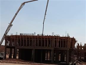 «الإسكان»: صب أسقف الدور الأول علوى بعمارات «JANNA» بملوي الجديدة | صور