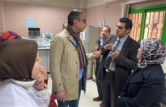 محافظ الفيوم في زيارة مفاجئة لمستشفى التأمين الصحي لتفقد العمل | صور