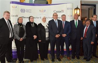 4 وزراء يشهدون المؤتمر الختامي لمشروع وظائف لائقة لشباب مصر | صور