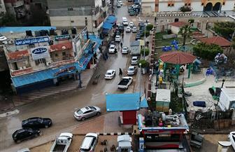 أمطار غزيرة رعدية تضرب مدينة العريش بشمال سيناء