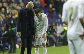 """مدرب ريال مدريد يشكك في استكمال """"هازار"""" الموسم الحالي"""