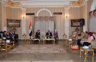 محافظ المنيا يستقبل السفير البريطاني.. ويتفقدان تطوير كورنيش النيل