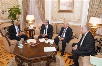 رئيس مجلس النواب يلتقي وزير التموين والتجارة الداخلية| صور