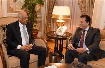 رئيس مجلس النواب يلتقي وزير التعليم العالي للنظر في أوضاع المبتعثين وتنشيط حركة البعثات إلى الخارج