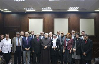 مفتي الجمهورية لوفد قائد الكنائس بألمانيا وسويسرا: مصر لديها تجربة فريدة في العيش المشترك |صور