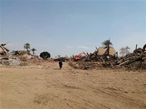 انتهاء أعمال إزالة مباني نجع أبو عصبة لاستكمال طريق الكباش| صور