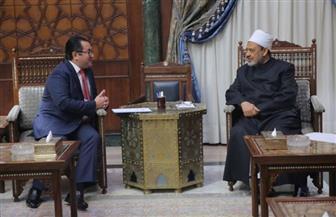سفير كازاخستان ينقل رسالة من رئيس بلاده إلى شيخ الأزهر