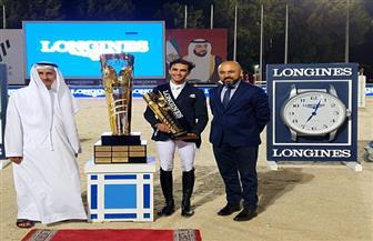 طاهر زيادة يفوز بذهبية بطولة الجائزة الكبرى للفروسية بالإمارات | صور
