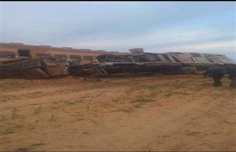 إصابة ٢٤  شخصا في حادث انقلاب قطار ركاب متجه إلى مطروح