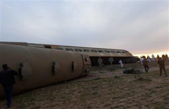 ارتفاع عدد مصابي حادث قطار مطروح إلى 38.. والصحة: لا وفيات