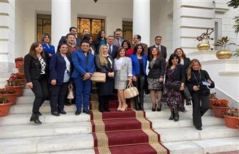 وزير الإعلام يجتمع بعدد من مذيعى ماسبيرو بمقر وزارة الإعلام الجديد