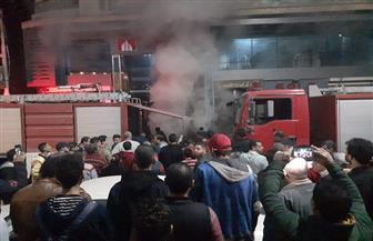 تفحم سيارة إثر اشتغال النيران بها وإصابة حارس برج سكنى فى حريق داخل جراج في طنطا