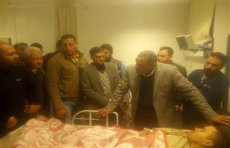 خروج 25 من مصابي حادث قطار مطروح  من المستشفيات بعد تحسن حالتهم الصحية |صور