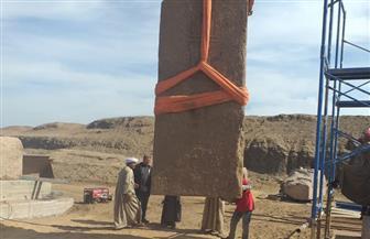 بدء أعمال ترميم وتجميع مسلتين أثريتين في صان الحجر بالشرقية | صور
