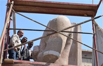 مصطفى وزيري: الانتهاء من 95% من أعمال ترميم تمثال رمسيس الثاني بمعبد الأقصر.. ويعلن موعد الافتتاح | صور