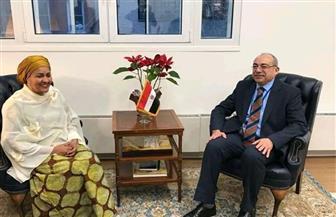 نائب السكرتير العام للأمم المتحدة تقدم واجب العزاء في وفاة الرئيس الأسبق حسني مبارك | صور