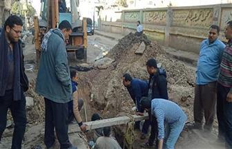 الانتهاء من إصلاح خط الطرد الرئيسي بمدينة زفتى بالغربية | صور