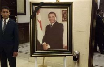 سياسيون ووزراء وفنانون يقدمون واجب العزاء لعائلة الرئيس الأسبق حسني مبارك | صور