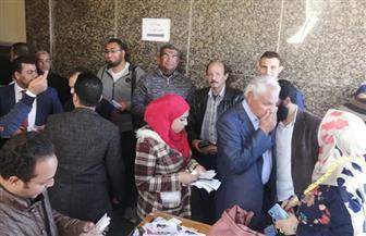 انتهاء التصويت فى انتخابات التجديد النصفى لنقابة المهندسين بسوهاج | صور