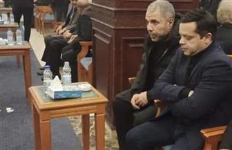 محمد هنيدي يؤدي واجب العزاء في الرئيس الأسبق محمد حسني مبارك
