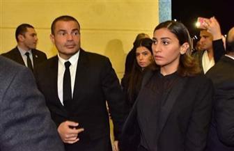 عمرو دياب ودينا الشربيني ومحمد رمضان يقدمون واجب العزاء لأسرة الرئيس الأسبق | صور