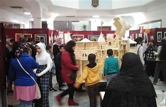افتتاح معرض النيل للمبدعين بمكتبة مصر بدمياط | صور