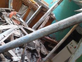 """إصابة شخص في انهيار جزئي لعقار بـ""""أبو قير"""" شرقي الإسكندرية   صور"""