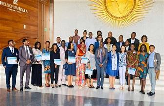 نميرة نجم توزع شهادات التخرج لمتدربي برنامج الأمم المتحدة الإقليمى للقانون الدولي في إفريقيا   صور